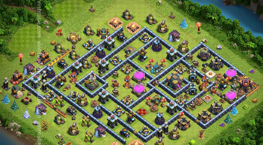 NEW BASE TH14 THỦ 7 LƯỢT KHÔNG NÁT | Clash of clans base