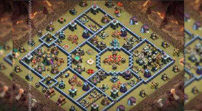 Cập nhật mẫu base link Town Hall 14 War mới nhất base