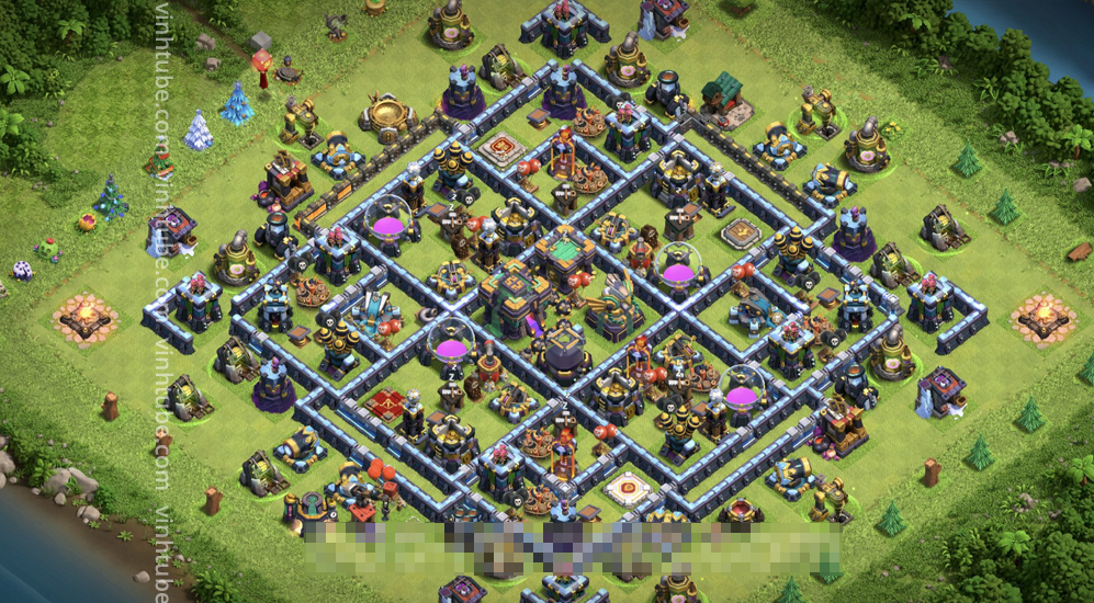 Farming Base TH14 with Link – plan / layout / design – Clash of Clans 2021 #Base