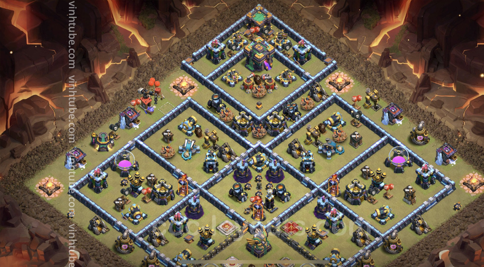 Top War Base TH14 with Link – CWL Defence Plan 2021 – Clash of Clans – #Base