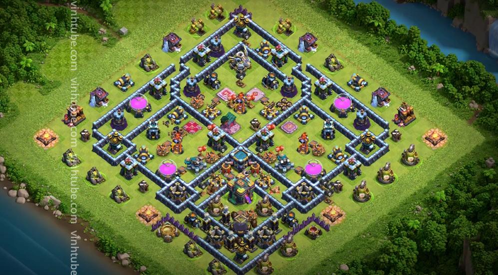 Cập nhật mẫu base TH14 mới nhất 2021 | Clash of Clans Base