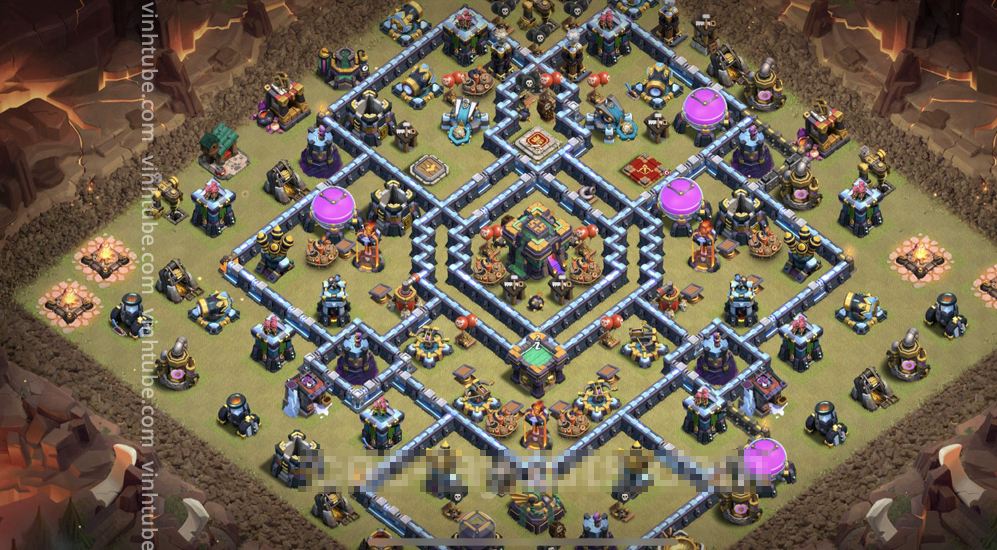 New Super Base Link War TH14 Anti 3 Star – Clash of Clans 2021 – #Base