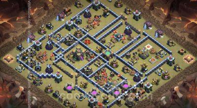 Top War Base TH14 with Link - Anti 3 Stars CWL Plan 2021 - Clash of Clans - Base