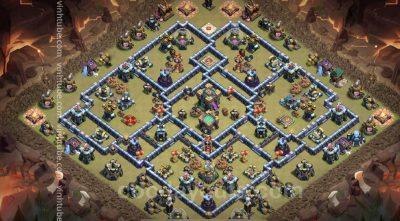 Super base TH14 - War/Clans War League/Trophy - Clash of clans 2021 - Base