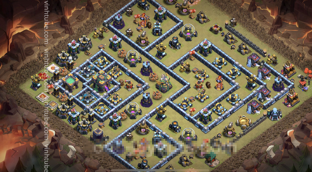 War Base TH14 with Link – CWL Defence Plan 2021 – Clash of Clans – Base