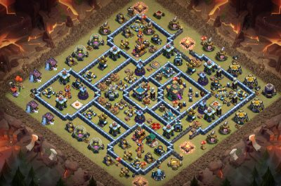 TH14 war and trophy base April 2021 - Clash of Clans Base