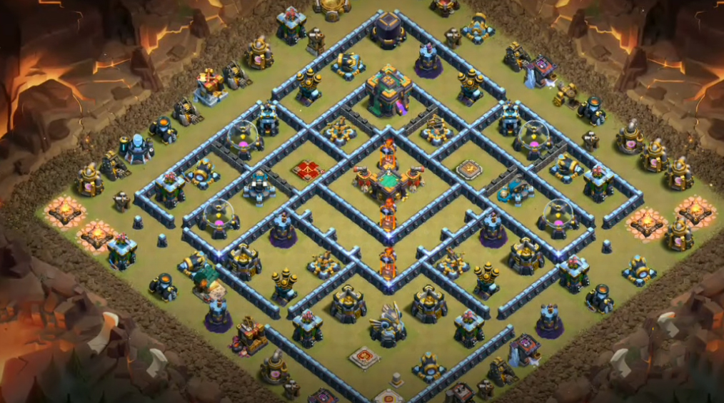 [HOT] TH14 war and trophy base anti Electric Dragon | Clash of Clans base